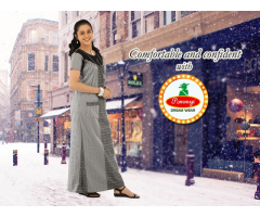 Buy Womens Branded Latest Night Dress and 100% Quality Pure Cotton Nighty Online