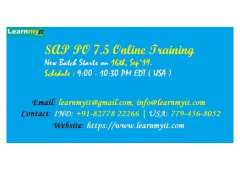SAP PI / PO 7.5 Online Training by Certified Consultant - https://www.learnmyit.com