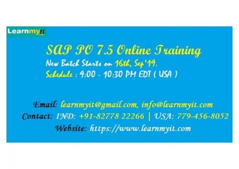 SAP PI / PO 7.5 Online Training by Certified Consultant -https://www.learnmyit.com