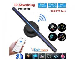Techmars 3D Holographic Display Fan with Portable LED Projector