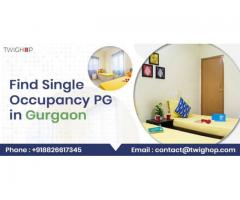 Find Single Occupancy PG in Gurgaon