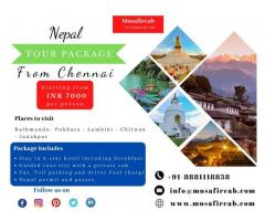 Chennai to Nepal Tour Package | Book your Nepal Holiday Package at best price