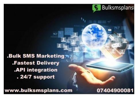 Bulk sms services at best prices with reliable Gateways and APIs.