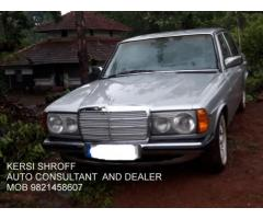 1985 MERCEDES 123 SERIES 300 D DIESEL KERSI SHROFF  AUTO CONSULTANT AND DEALER