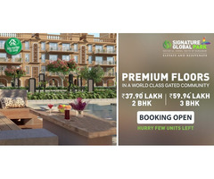 Signature Global Park-Premium floors at sec 36, Sohna , South of gurgugram