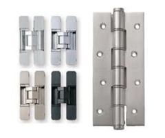 What are the different types of door hinges?