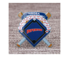 Inferno Baseball Trading Pins