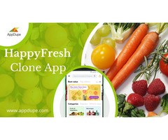 HappyFresh clone app: A virtual grocery store with attractive features
