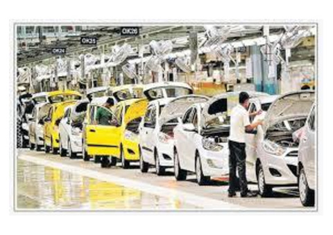 Automobile Sectors Opening For Freshers to 25 Yers Exp