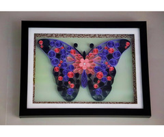 Innovative Raksha Bandhan gifts for Sister Abstract Butterfly art work Aadhi Creation