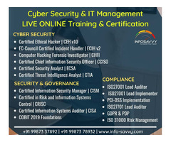IT Management & Cyber security Live online Training & Certification | info-savvy.com