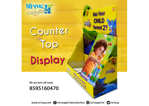 Promotional counter top display stand manufacture