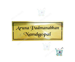 Best titanium name plate with golden colour by artsnprints