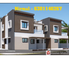 West Facing New 3Bhk compactHouse for sale in cheranmaa nagar, Coimbatore.