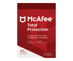 McAfee Total Protection 1 Device, 1 Year, Global