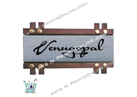 To order House Name Plate SS with Wood Frame