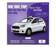 Drop Call Taxi Hosur, Krishnagiri and Vellore one way taxi service