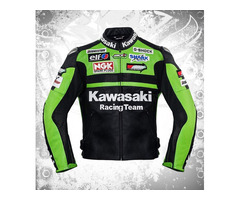 kawasaki leather motorcycle jacket