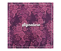 Buy Creamy Pink Net Fabric With Floral Thread Work at MK SIGNATURE Groom and Bride