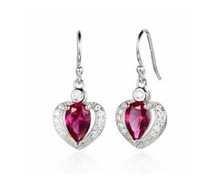 Buy Red Colour Stone Earrings online in India | Ornate Jewels