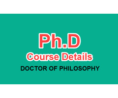 PhD Course in Ganpat University, Gujarat