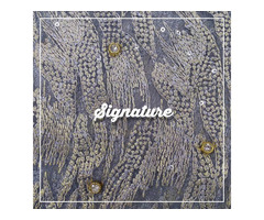 Buy Purple Grey Net Fabric With Stone And Sequence Work at MK SIGNATURE Groom and Bride