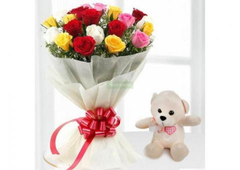 Send Flowers To Ghaziabad, Order Now and get Flat 100 Off - Yuvaflowers